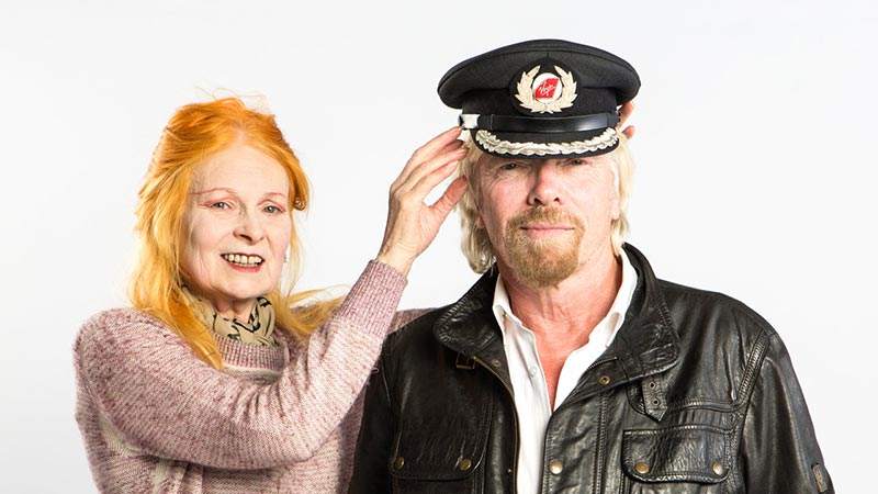 Dame Vivienne Westwood and Richard Branson