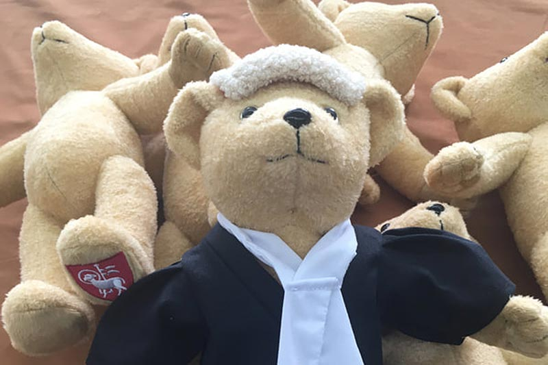 Bespoke teddy bears for the hospitality sector
