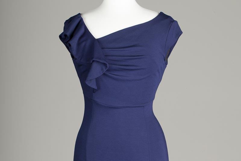 Bespoke navy blue dress