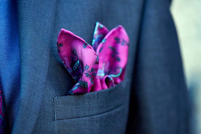 Bespoke pocket square for English Eccentrics