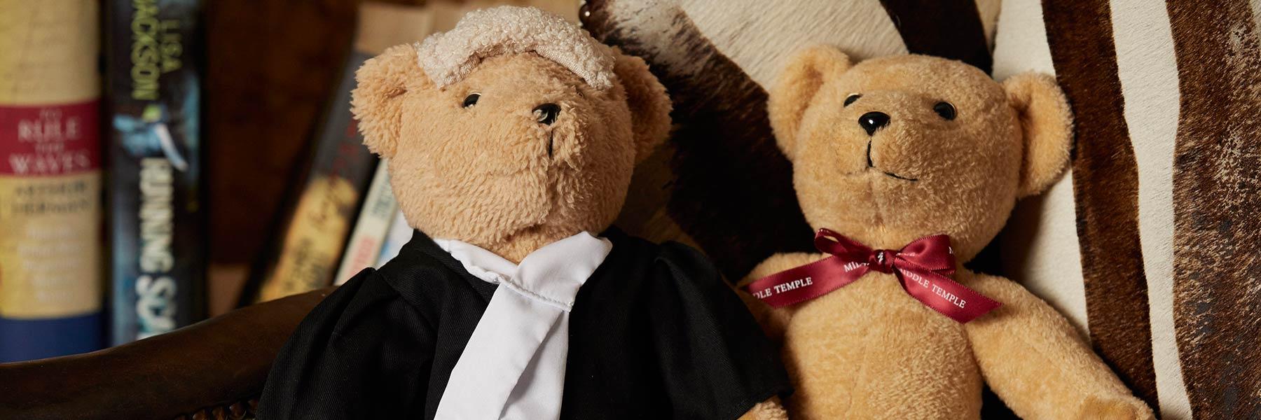 Bespoke Textiles branded teddy bears