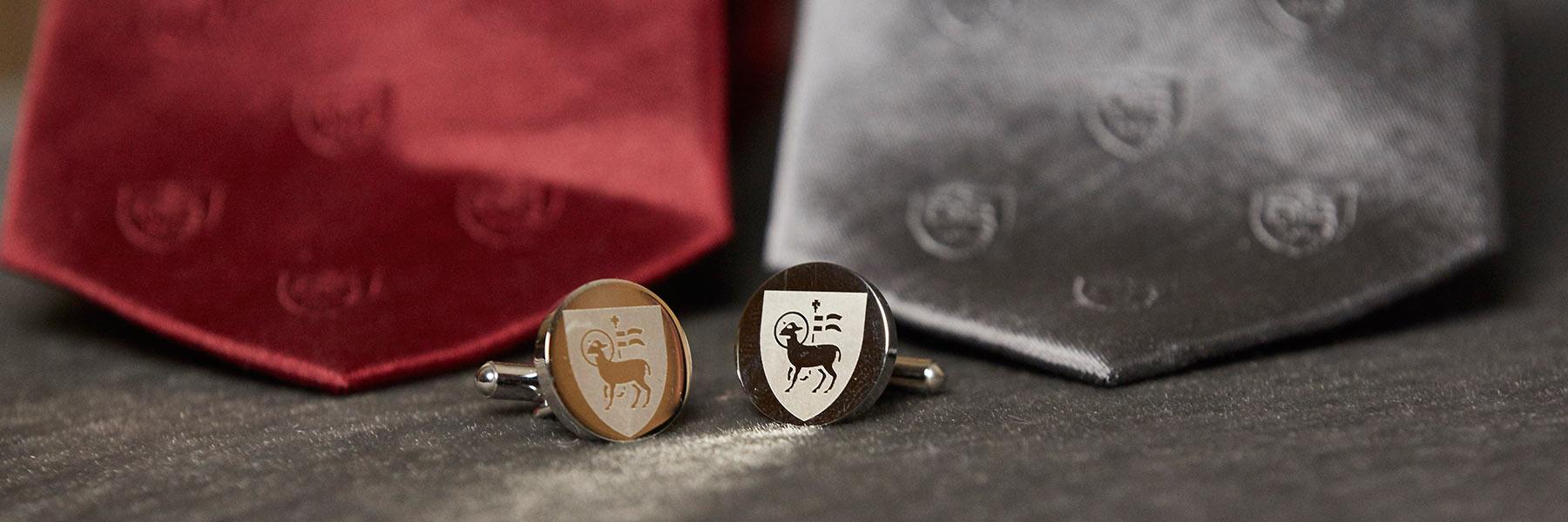 Bespoke Textiles ties and cufflinks