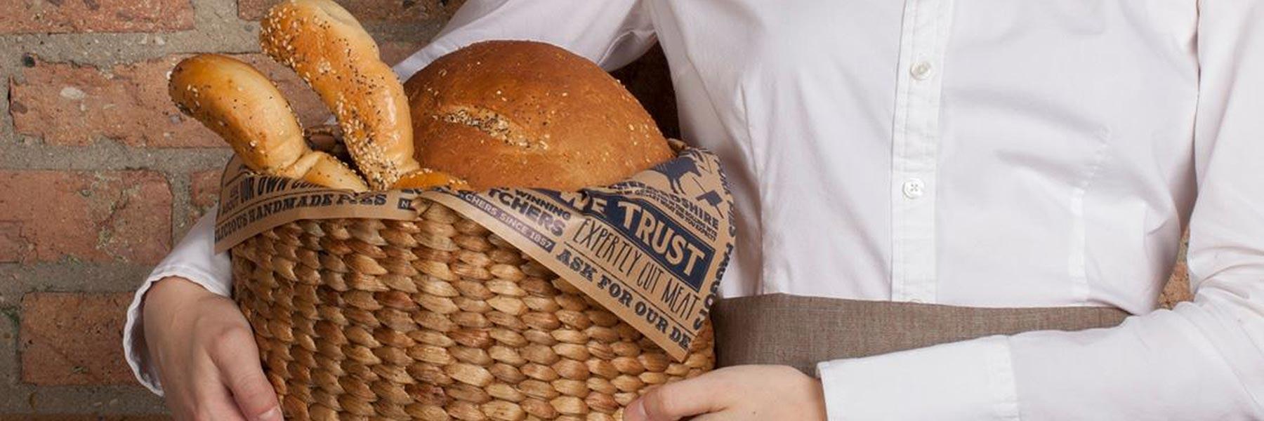 Bespoke Textiles restaurant bread basket