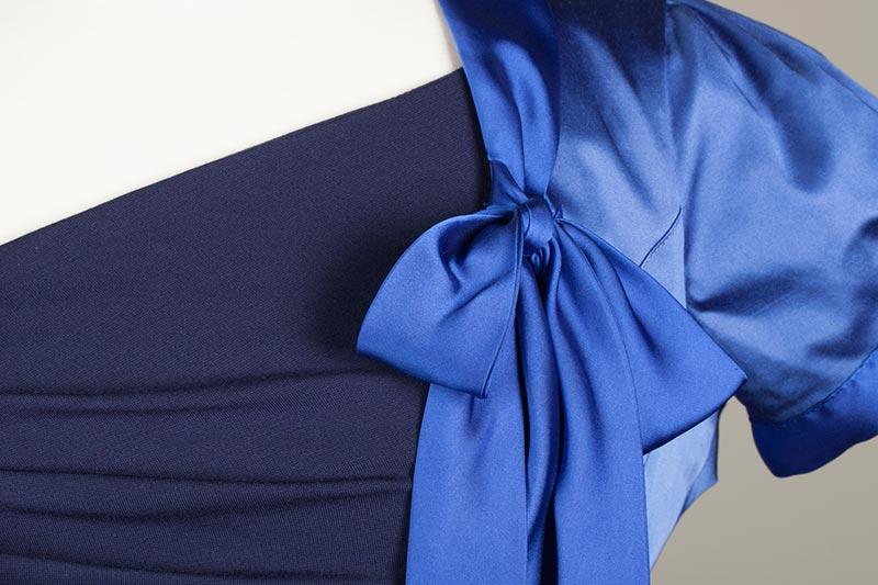 Bespoke blue uniform dress