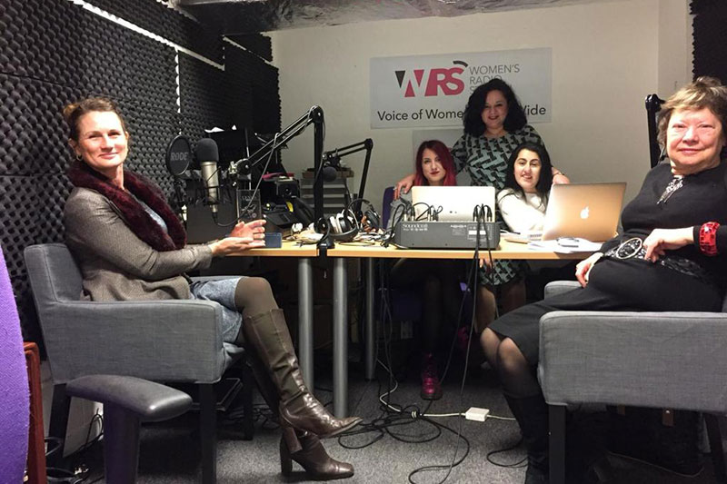 Katie Young Gerald at the Women's Radio Station