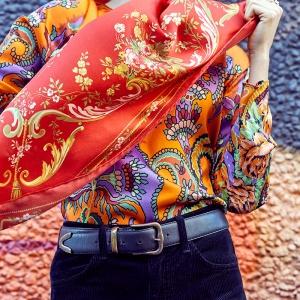 Silk square scarf (BT030SS)