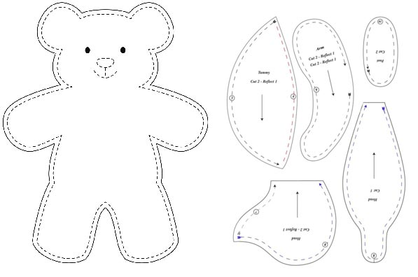 Teddy bear pattern
