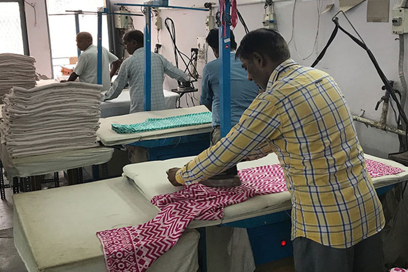 Textiles factory visit